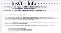 Insolvenz-Infomationen von R. Tantzen